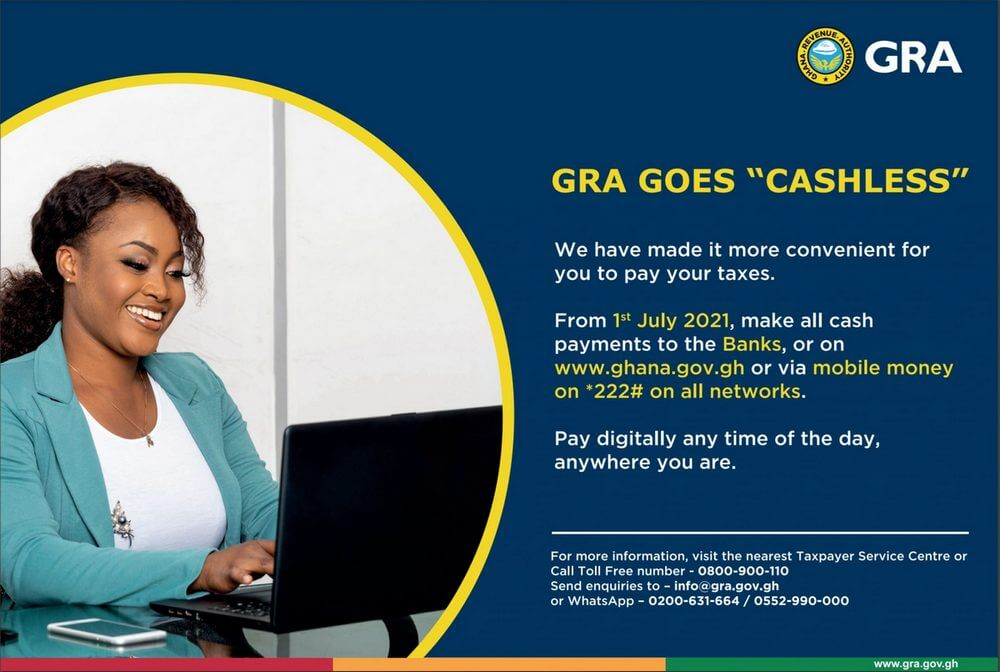 GRA goes cashless, no longer accepts cash or cheques at their branches