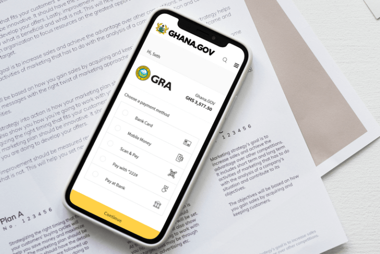 How to pay your taxes online to GRA via Ghana.GOV