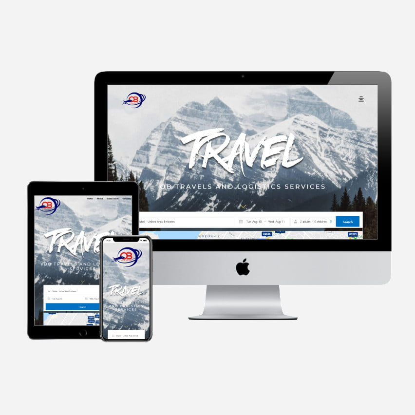 Web design Project for OB Travels and logistics Services